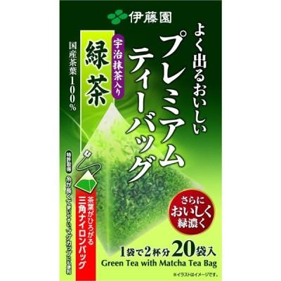 伊藤園 よく出るおいしいプレミアムTB抹緑20袋