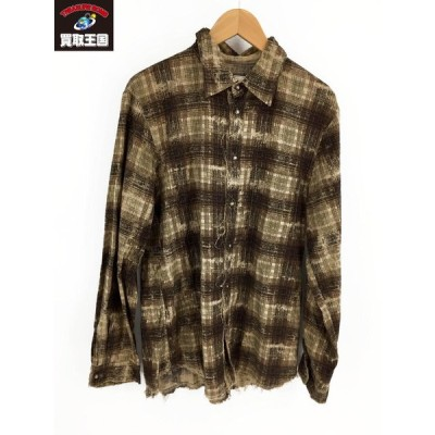 Iroquois PAIN OMBRE CHECK SHIRT チェックシャツ size3[▼]