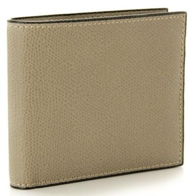 ヴァレクストラ/VALEXTRA 財布 メンズ ソフトカーフスキン 二つ折り財布 グレーベージュ V8L04-028-00TO スマートウォレット 2020年秋冬