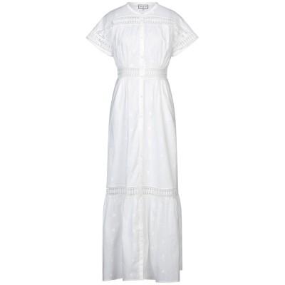 ポール & ジョー PAUL & JOE ロングワンピース&ドレス ホワイト 40 コットン 100% / ポリエステル ロングワンピース&ドレス