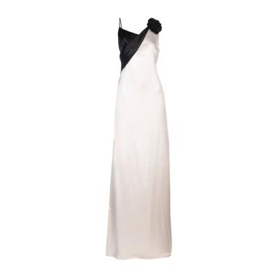 ランバン LANVIN ロングワンピース&ドレス アイボリー 36 アセテート 100% / ポリエステル / ガラス / 真鍮/ブラス ロングワン