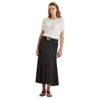 ラルフローレン レディース スカート ボトムス A-Line Peasant Skirt Polo Black/white