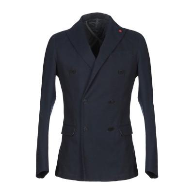 LIU •JO MAN テーラードジャケット ダークブルー 50 コットン 97% / ポリウレタン 3% テーラードジャケット