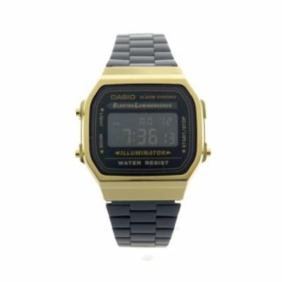 カシオ メンズ&レディース 腕時計/CASIO 腕時計 ブラック ゴールド 送料無料/込 バレンタインデー