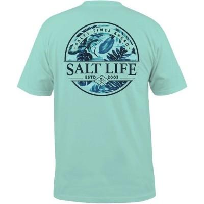ソルトライフ シャツ トップス メンズ Salt Life Men's Paradise Seas Short Sleeve Graphic T-Shirt ArubaBlue