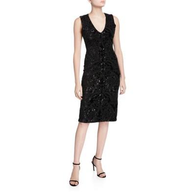 アリス アンド オリビア レディース ワンピース トップス Alba Embellished Midi Dress