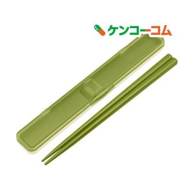 抗菌音の鳴らない箸箱セット レトロフレンチ グリーン GR ABC3AG ( 1セット )