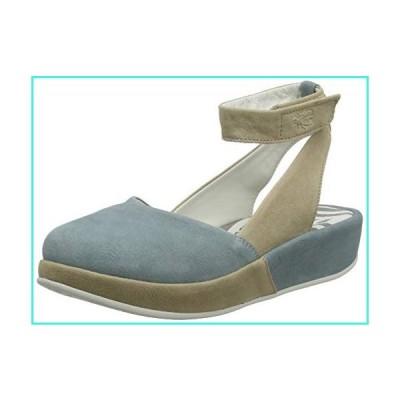 【新品】FLY London Women's Ankle Strap Ballet Flats, Blue Pale Blue Cloud 003, 41(並行輸入品)