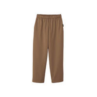フォークフォーク 検診衣パンツ (検査着 患者衣) 男女兼用 モカ L 6004SK(直送品)