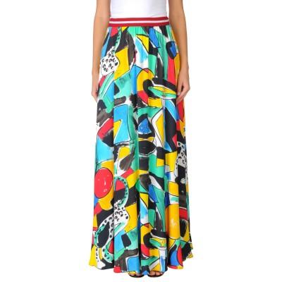 STELLA JEAN ロングスカート グリーン 40 レーヨン 100% ロングスカート