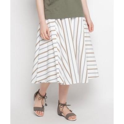 ◆ストライプ切り替えスカート
