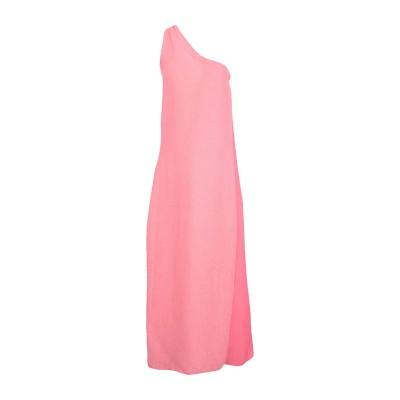 CRISTINA ROCCA ロングワンピース&ドレス ピンク 40 Viloft® 85% / ポリエステル 15% ロングワンピース&ドレス