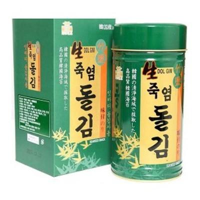 ★竹塩生 岩海苔(180枚x1缶) ★韓国食品市場★韓国食材/韓国のり/お弁当海苔/のり