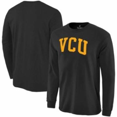 Fanatics Branded ファナティクス ブランド スポーツ用品  Fanatics Branded VCU Rams Black Basic Arch Long Sleeve E