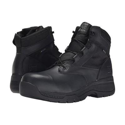 """ティンバーランド 6"""""""" Valor Duty Composite Safety Toe Waterproof Side-Zip メンズ ブーツ Black"""