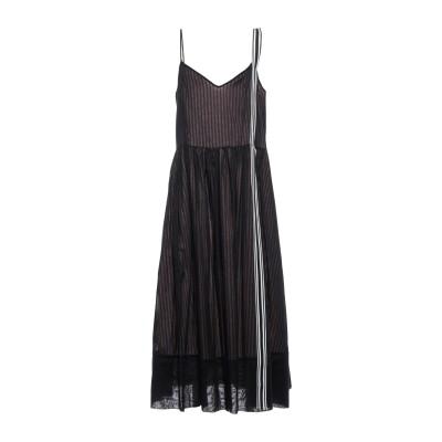 GOLD CASE 7分丈ワンピース・ドレス ブラック 40 コットン 100% / ナイロン 7分丈ワンピース・ドレス