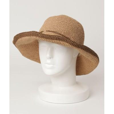 VARIOUS SHOP / ラフィアラインハット WOMEN 帽子 > ハット