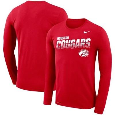 ユニセックス スポーツリーグ アメリカ大学スポーツ Houston Cougars Nike Sideline Legend Performance Long Sleeve T-Shirt - Red