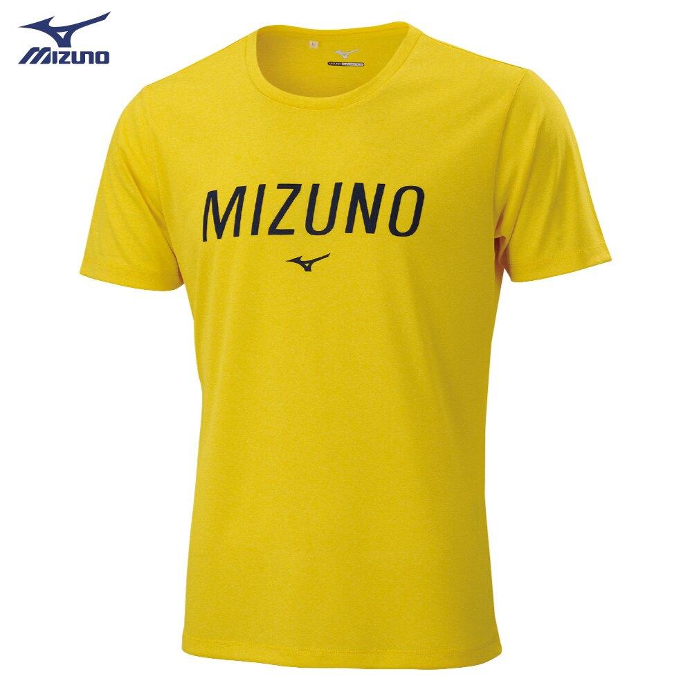 Slim FIT 男款短袖T恤 32TA001145(黃)【美津濃MIZUNO】