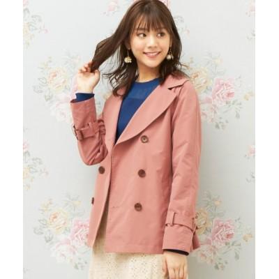 大きいサイズ ショート丈トレンチコート(MIIA) ,スマイルランド, コート, plus size coat