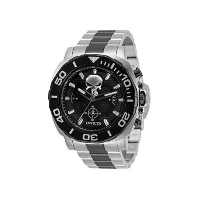送料無料!Invicta Men's 35094 Marvel The Punisher Limited Edition Black and Silver Watch
