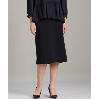 INED / 《大きいサイズ》ストレートタイトスカート