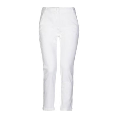 I BLUES パンツ ホワイト 44 コットン 55% / レーヨン 44% / ポリウレタン 1% パンツ