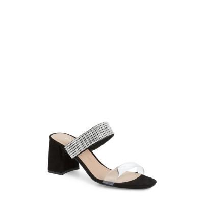 チャイニーズランドリー レディース サンダル シューズ Yas Embellished Clear Strap Sandal BLACK/CLEAR