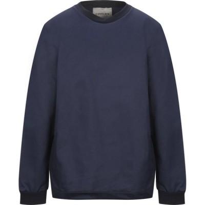 コラレート CORELATE メンズ シャツ トップス Solid Color Shirt Dark blue