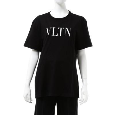 ヴァレンティノ Tシャツ 半袖 丸首 クルーネック レディース UB3MG07D3V6 ブラック 2020年秋冬新作 Valentino