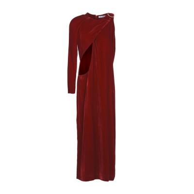 ドンダップ DONDUP ロングワンピース&ドレス ボルドー 42 コットン 100% ロングワンピース&ドレス