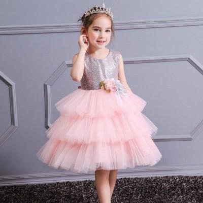 子供ドレス フォーマル ピアノ発表会女の子 ワンピース  結婚式  110 120 130 140 150 160