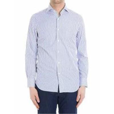 Finamore メンズシャツ Finamore Cotton Shirt White