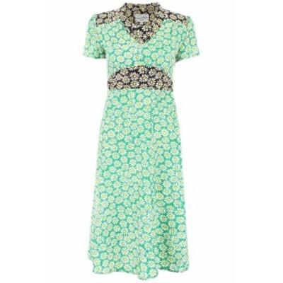 HVN/ヘイチヴィーエヌ ドレス COMBO BLACK GREEN DAISY Hvn daisy print morgan dress レディース 春夏2019 S190510 ik