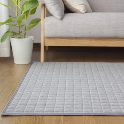 カーペット キルトラグ 洗える ラグマット 3畳 190×240 夏用 綿100% 防ダニ 抗菌 防臭 滑り止め付 床暖房