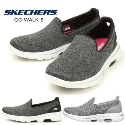 スケッチャーズ スリッポン レディース スニーカーSKECHERS GO WLAK5 15903BKW 15903GRY 靴