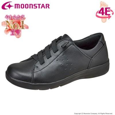 ムーンスター イブ レディース コンフォートシューズ EVE 307 ブラック moonstar