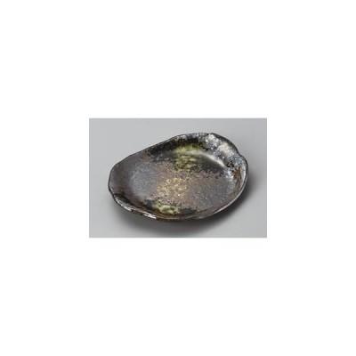 陶里 第30集 黒釉刷毛目11.0小判皿 27717-480