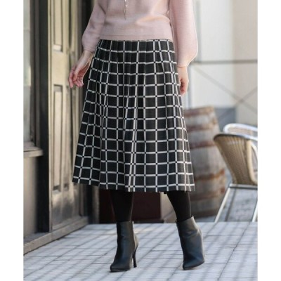 スカート ブロックブレイドスカート