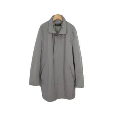 【中古】アレグリ allegri コート ステンカラー フード 48 グレー メンズ 【ベクトル 古着】