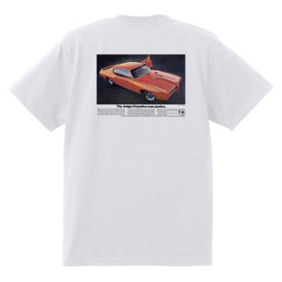 アドバタイジング ポンティアック 373 白 Tシャツ 黒地へ変更可能  1969 グランプリ gto ボンネビル アメ車