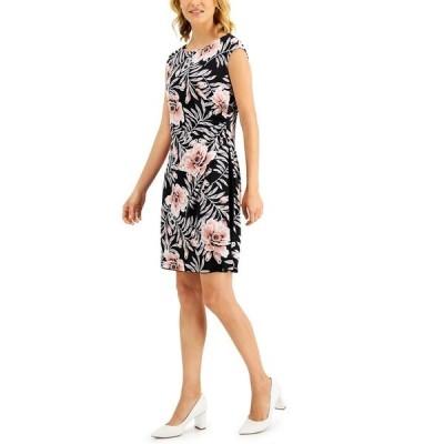 コネクテッド ワンピース トップス レディース Petite Cap-Sleeve Sheath Dress Dusty Rose