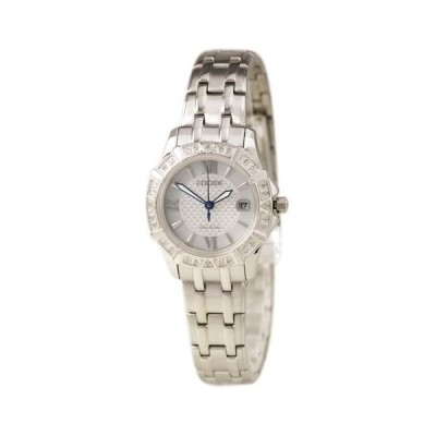 腕時計 シチズン Citizen EW2360-51A Lady's Diamond Accented Bezel SS Bracelet Watch