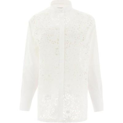 """ヴァレンティノ Valentino レディース ブラウス・シャツ トップス """"Blossom Macrame"""" Shirt White"""