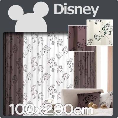 カーテン ディズニー 100x200cm 1枚 遮光 disney ミッキー  トウィッグリーフ