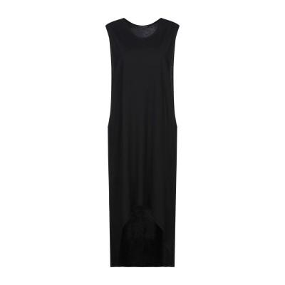 NEVER ENOUGH ミニワンピース&ドレス ブラック L コットン 100% ミニワンピース&ドレス