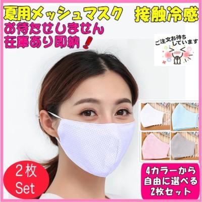 マスク メッシュマスク 選べる2枚セット 接触冷感 マスク  大人用 洗える 涼しい 薄手 ファッションマスク スポーツ時も快適 春 夏 秋 冬 年中使える