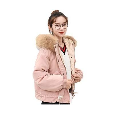 [サ二ー] ダウンジャケット ショート丈 中綿コート レディース 秋冬 大きいサイズ ブルゾン フェイクファー