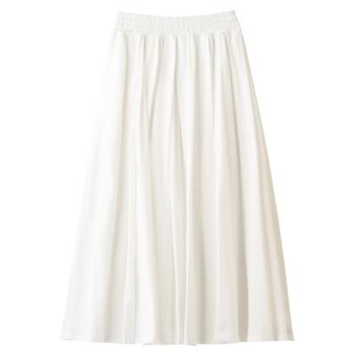 ebure エブール クールミニパイル タックギャザースカート レディース ホワイト 36