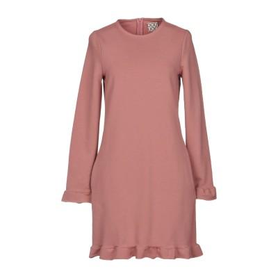DOUUOD ミニワンピース&ドレス パステルピンク 42 コットン 95% / ポリウレタン 5% ミニワンピース&ドレス